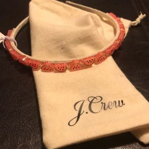 J. Crew watermelon headband.